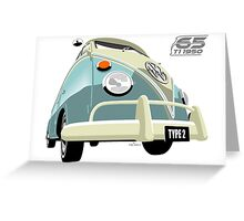 VW Transporter light blue - 65th anniversary Greeting Card