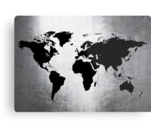 World Map Metal Metal Print