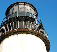 Cape Disappointment Lighthouse Close-Up by Deborah Singer
