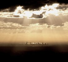 Light Over Melbourne by Vincent  Yeow