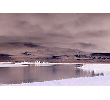 Cloudy Lake Inverted Photographic Print