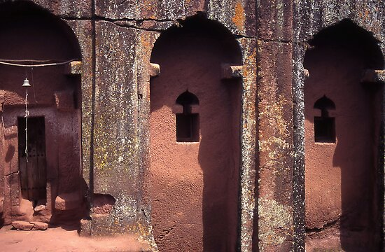 Detail of underground Church, Lalibela, Ethiopia. by Peter Stephenson