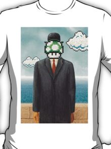 Magritte Parody Video Game Son of Man 1UP T-Shirt