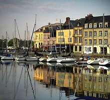 Honfleur Harbour, France by triciamary