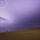 Lightning on Port Phillip Bay from Rye front beach by RyePixels