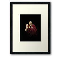 Crouching Dalai hidden Lama Framed Print