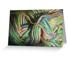 Multicolored Yarn Greeting Card