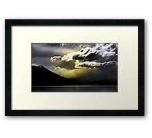 Tekapo Storm New Zealand Framed Print