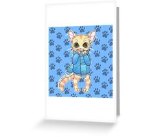 Sweatercat in blue Greeting Card
