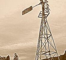 Old farm Windmill by John Chapman