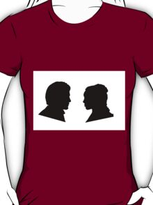 Jaime and Cersei Lannister Silhouette Profiles T-Shirt