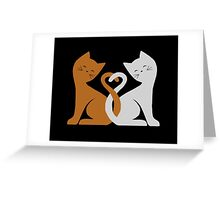 Cat Tales (Black) Greeting Card