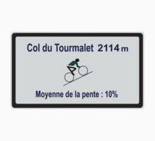 Col du Tourmalet Road Sign Cycling Tour de France by movieshirtguy