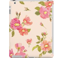 Roses Background in Retro Style iPad Case/Skin