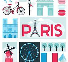 Paris Travel Card by Anna Sivak