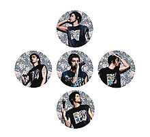 Zayn Malik Circles Floral Photographic Print