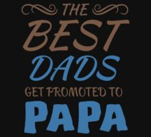 The Best Dads Get Promoted To Papa - Tshirts & Hoodies by custom222