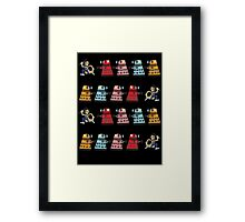 Doctor Who stuck in pac man Framed Print