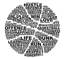 Basketball of the words Photographic Print