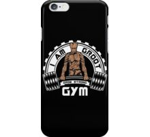 I Am Groot Guardians Of The Galaxy Gym Mashup Parody iPhone Case/Skin