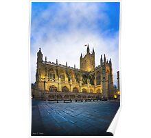 Golden Dusk at Bath Abbey Poster