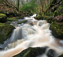 Jumble Hole Waterfall, Hebden Bridge by Steve  Liptrot