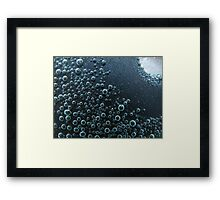 Bubbles in Glass Framed Print