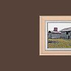 """Nostalgic Old Barn, the Back Side"" ...with a matted and framed presentation for prints and products  by © Bob Hall"