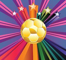 Soccer Ball with Stars 2 by AnnArtshock