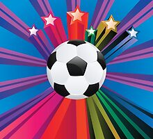 Soccer Ball with Stars 3 by AnnArtshock
