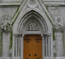Church Arched Doorway by Orla Cahill