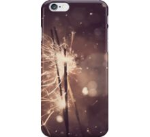 Sparkler and snow iPhone Case/Skin