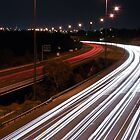 Easter Freeway at night by mugofevil