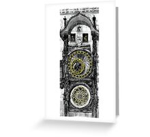BW Prague The Horologue at OldTownHall Greeting Card