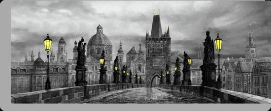 BW Prague Charles Bridge 06 by Yuriy Shevchuk