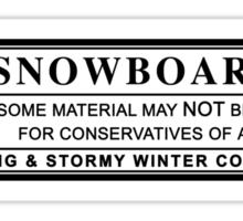 snowboard : warning label Sticker