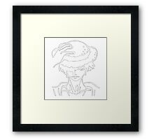Luffy Dark !  Framed Print