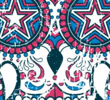 Psychedelic Sugar Skull Sticker