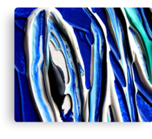 Stylized Blue and White Design  Canvas Print