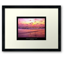 Inspirational Sunset With Zen Proverb Framed Print