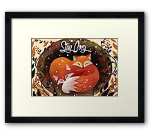 Stay Cozy Framed Print