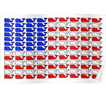 Vineyard Vines American Flag Poster