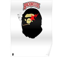 BACKWOOD SMOKING APE  Poster