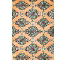Vintage Moroccan Pattern in Peach Photographic Print
