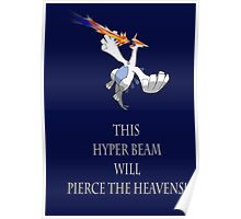 Lugia Pierces the Heavens! Poster