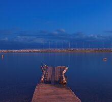 Blue hour over the Mediterranean sea by Patrick Morand