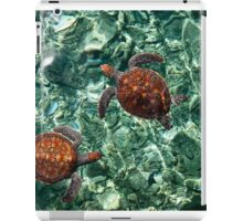 Fragile Underwater World. Sea Turtles in a Crystal Water. Maldives iPad Case/Skin