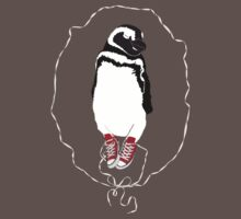 Happy Penguin in Converse Kids Clothes