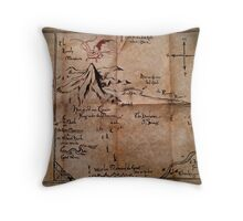 Thror's Map | Thorin Oakenshield's Map - Digital Artwork  Throw Pillow