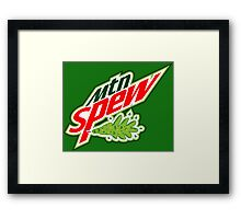 """Mtn Spew"" - Mountain Dew Parody Framed Print"